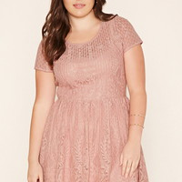 Plus Size Floral Lace Dress