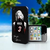 Marilyn Monroe Miami Heat Dwyane - Photo On Hard Cover For iPhone 4,4S