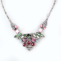 2016 New Romantic simple jewelry delicacy Crystal Chokers necklaces for women