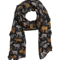 Scarf with Printed Pattern - from H&M