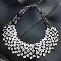 Collier Femme Trendy Crystal Statement Necklaces Pendants Women Fine Jewelry Multi layer Link Chain Necklace Bijoux Colares