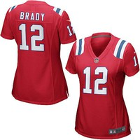 Women's New England Patriots Tom Brady Nike Red Game Jersey
