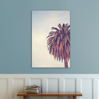OOPS FLASH SALE Photographic Print, Palm Tree Los Angeles California, Bohemian, cream, boho, travel,  Wall, Decor, Hanging,