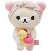 Rilakkuma white plush bear with bathing foam duck - Plush Toys - Stationery