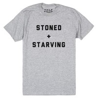 Stoned & Starving-Unisex Heather Grey T-Shirt