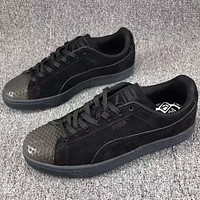 Puma crystal head design fashion board shoes F-CSXY black