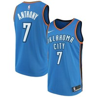 Carmelo Anthony Oklahoma City Thunder # 7 Nike Blue Swingman Icon Edition Jersey - Best Deal Online