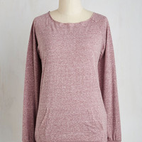 Mid-length Long Sleeve Lesson in Essentials Top in Rose