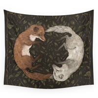 Society6 Foxes Wall Tapestry