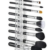 Acrylic Brush Organizer & Beauty Care Holder Contains 12 Spaces For Storing & Drying | byAlegory (Clear) Makeup Organizer