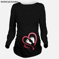 2017 New Maternity pregnancy clothes Summer Plus Size Pregnant Women T-shirts Maternity Tees Clothes Nursing Top Pregnancy