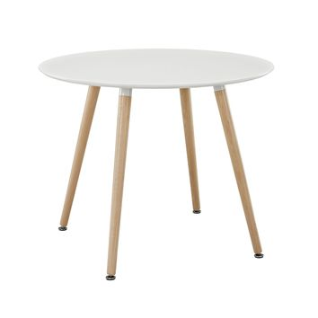 Track Round Dining Table White EEI-1055-WHI