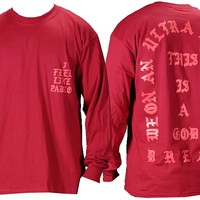 The Life of Pablo I Feel Like Pablo Red Long Sleeve T Shirt