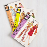 Vintage Inspired Love Sews No Bounds Notebook Set by Chronicle Books from ModCloth