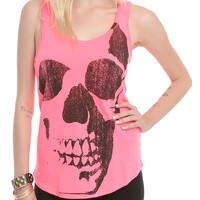Pink Skull Girls Tank Top