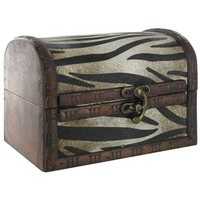 Small Zebra Print Rustic Box | Shop Hobby Lobby