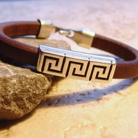Heavy Leather Men's Bracelet
