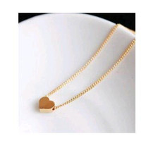 Cute Small Gold Short Heart Love Necklace