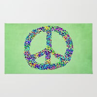 Peace Out Area & Throw Rug by Shawn King