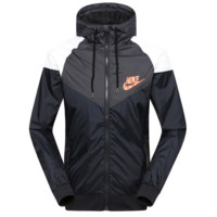 """NIKE""Fashion Hooded Zipper Cardigan Sweatshirt Jacket Coat Windbreaker Sportswear print letters Black"