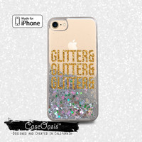 Glitter and Glitter Quote Gold Cute Tumblr Liquid Glitter Sparkle Case iPhone 6 and 6s iPhone 6 Plus and 6s Plus iPhone 7 and iPhone 7 Plus