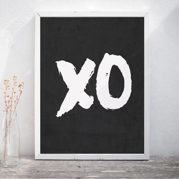 Quote Poster XO Print Love Wall Decor XOXO Print Love Wall Art Love Quote Print Xo Printable Love Quote Sign Bedroom Poster Instant Download