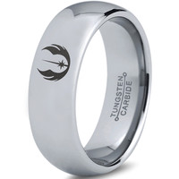 Star Wars Jedi Order Silver Polished Tungsten Dome Ring
