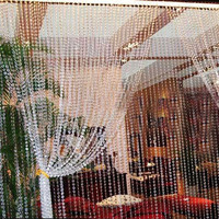 99FT 30M Octagonal Acrylic Crystal Beads Curtains DIY Window Door Curtain Party Wedding Passage Backdrop Decoration