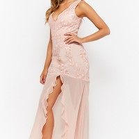 Floral Lace Sweetheart Gown