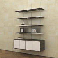 SALE ITEM - Wall Mounted Shelves with Sliding Door Cabinets