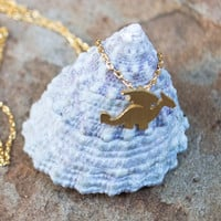 Dainty Dragon Necklace- GOLD