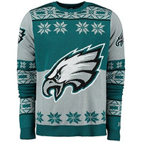 Philadelphia Eagles Forever Collectibles KLEW Big Logo Ugly Sweater Sizes S-XXL w/ Priority Shipping