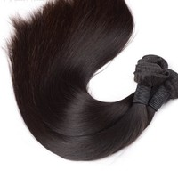 Peruvian Straight Virgin Hair - #1B Natural Black