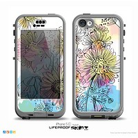 The Colorful WaterColor Floral Skin for the iPhone 5c nüüd LifeProof Case