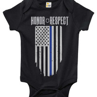 Baby Bodysuit - Thin Blue Line Police