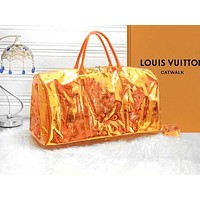 LV Louis Vuitton Fashion Handbag Reflective Jelly Laser Portable Messenger Transparent Bag