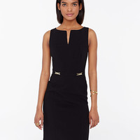 Chain Belted Sheath Dress | Ann Taylor