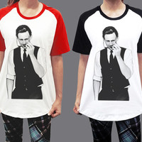 Tom Hiddleston Suit Marvel The Avengers Thor Unisex Men Women Short Sleeve Baseball Shirt Tshirt