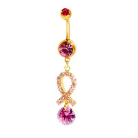 New Charming Dangle Crystal Navel Belly Ring Bling Barbell Button Ring Piercing Body Jewelry = 4672666564