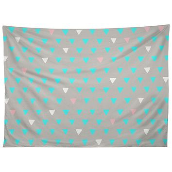 Bianca Green Geometric Confetti Party Tapestry