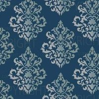 LARGE WALL DAMASK STENCIL PATTERN 10 inch x 12 by Lightsforever