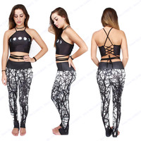 Dark Forest Power Flex Yoga Pants