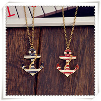 Oil anchor pendant necklace
