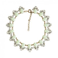 Clustered Mint Collar Statement Necklace | Wedding and Bridal Jewelry
