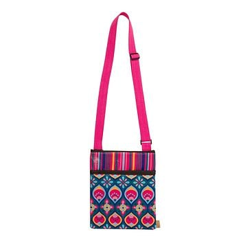 Crossbody Zipper Pouch in Fandango Pink