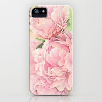 Pink Peonies iPhone & iPod Case by Lisa Argyropoulos