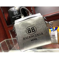 BALENCIAGA 2018 Summer Personality Letter Casual Shoulder Backpack F0426-1 Silver