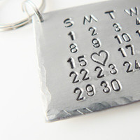 Aluminum Calendar with Your Text Mark the Date Best Gift