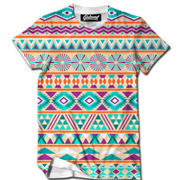 Blue Orange Purple Aztec Men's Tee