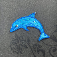 dolphin patch embroidered patch iron on patches iron on patch sew on patch